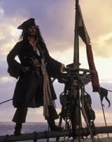 Jack Sparrow on a sinking ship.